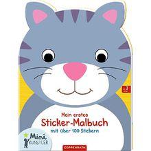 Buch - Mini-Künstler Mein erstes Sticker-Malbuch (Katze)