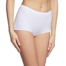 Calida Damen Taillenslip Midislip Comfort, Einfarbig, Gr. 50 (Herstellergröße: L 48/50), Weiß (weiss 001)