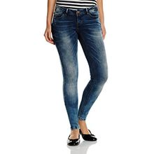 VERO MODA Damen Slim Jeanshose VMONE SLW JEANS GU969 NOOS, Gr. W27/L34 (Herstellergröße: 27), Blau (Medium Blue Denim)