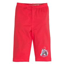 SALT AND PEPPER Mädchen Shorts Capri Horses Uni, Rot (Hibiscus 335), 104