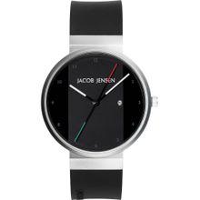 JACOB JENSEN Uhr '702' schwarz / silber