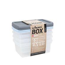 Wham 13109 Whambox Kunststoffboxen 4er Set + Deckel 3,5L Stapelbox Vorratsdosen