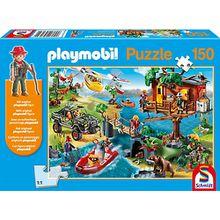 Puzzle Playmobil (inkl. Figur), Baumhaus, 150 Teile