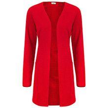 JACQUELINE de YONG Damen Sweat Cardigan, Farbe:rot;Größe:XL