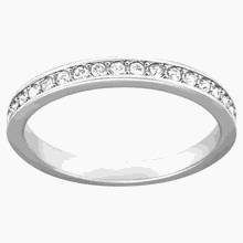 Rare Ring, weiss, Rhodiniert