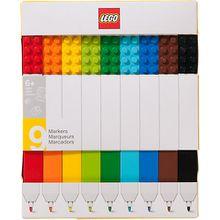 LEGO Filzstifte, inkl. LEGO-Platten (2x4), 9 Farben