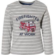 SALT AND PEPPER Baby Langarmshirt für Jungen, Feuerwehr grau