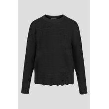 Pullover mit Lochspitze