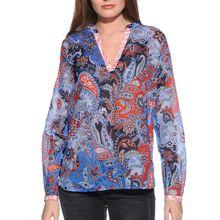 Milano Blusenshirt in blau für Damen