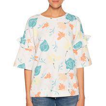 Benetton Blusenshirt in weiss für Damen
