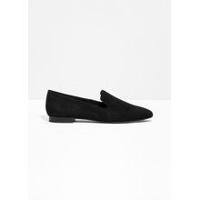 Suede Slipper Loafer - Black