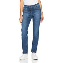Brax Damen Slim Jeans BX_MARY Brillia, Blau (Used Regular Blue 25), W36/L32 (Herstellergröße: 46)