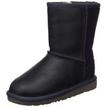 UGG Classic Short Leather, Unisex-Kinder Kurzschaft Stiefel, Blau (Peacoat), 30 EU