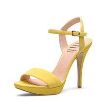 EVITA Damen Sandalette VALERIA Klassische Sandaletten gelb Damen