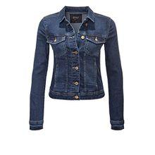ONLY Damen Jeansjacke Übergangsjacke Leichte Jacke Denim Casual (S, Dark Blue Denim