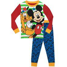 Disney Jungen Mickey Mouse und Pluto Schlafanzug - Slim Fit - 122