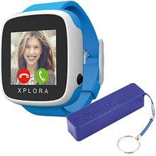 XPLORA GO Smartwatch Kids blue inkl. XLayer Powerbank Colour Line Blue 2600 mAh Jungen Kinder