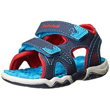 Timberland Active Casual Sandal_Adventure Seeker 2 Strap, Unisex-Kinder Sandalen, Blau (Navy/Blue/Red), 35 EU