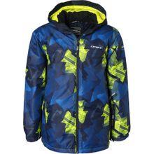 ICEPEAK Skijacke 'Locke' blau / nachtblau / neongelb
