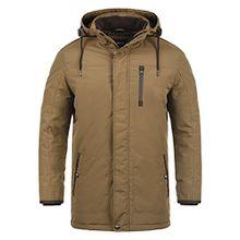SOLID Dempsey Herren Parka lange Winterjacke Mantel mit Kapuze aus hochwertiger Materialqualität, Größe:XL, Farbe:Sepia (5075)