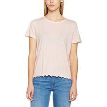 Mustang Damen Lace T-Shirt, Rosa (Shell 702), 38 (Herstellergröße: M)