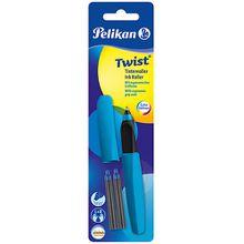 Tintenroller Twist R457 Petrol, inkl 2 Rollerpatronen petrol