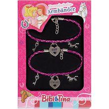 Bibi & Tina: Freundschaftsarmbänder, zwei Stück pink Mädchen Kinder