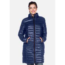 sheego Long-Steppjacke mit Reißverschluss Outdoorjacken blau-kombi Damen