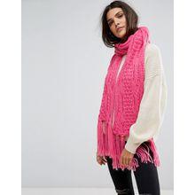 Vero Moda - Strickschal mit Quasten - Rosa
