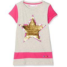 Desigual Mädchen T-Shirts TS_Atlanta, Grau (Gris Vigore Oscuro 2043), 104 (Herstellergröße:3/4)