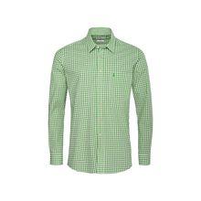Almsach Trachtenhemd Langarmhemden hellgrün Herren