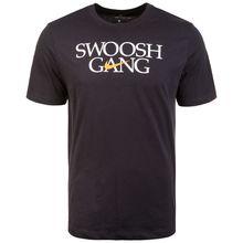 Nike Sportswear Swoosh Gang T-Shirt Herren schwarz/weiß Herren