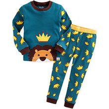 Vaenait Baby Kinder Jungen Nachtwaesche Schlafanzug-Top Bottom 2 Stueck Set Secret Simba XL