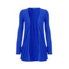 Funky Boutique Damen Cardigan mit Tasche : Farbe - blau: Größe - 12-14 ML