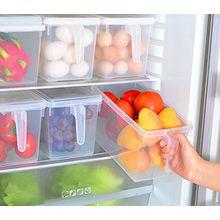 sannix 2PCS Küche, Speisekammer, Kühlschrank, Gefrierschrank Container Box mit Scharnierdeckel