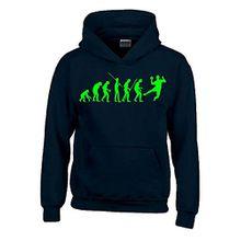 HANDBALL Evolution Kinder Sweatshirt mit Kapuze HOODIE schwarz-green, Gr.140cm