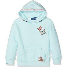 TOM TAILOR Kids Mädchen Sweatshirt Sweet Sweater with Details, Blau (Ocean Tint 6927), 122