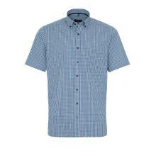 ETERNA Hemd blau / grün / weiß