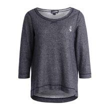 DREIMASTER Sweater blaumeliert