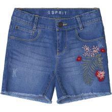 ESPRIT Jeansshorts blau / dunkelgrün / blutrot
