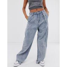 Emory Park - Mom-Jeans in Vintage-Passform mit offenem Saum - Blau
