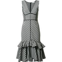 Tome Ärmelloses Kleid mit Vichy-Karo - Schwarz