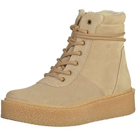 TAMARIS Damen Stiefel gefüttert Beige, Schuhgröße:EUR 38