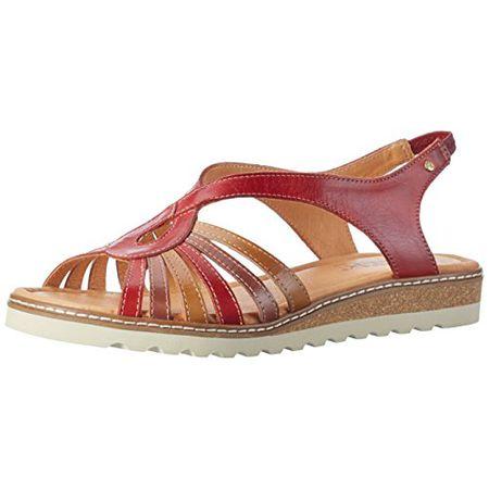 Pikolinos Damen Alcudia W1L_V17 Offene Sandalen mit Keilabsatz, Rot (Coral), 38 EU