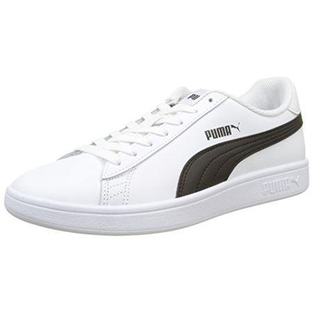 Puma Unisex Erwachsene Smash V2 L Sneaker, Weiß White Black 1, 36 EU