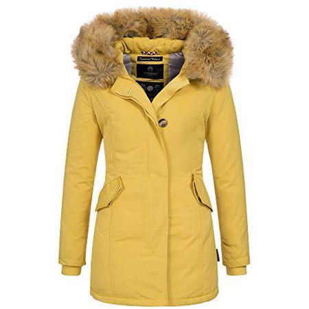 287ca3c3ebc70 Marikoo KARMAA Damen Jacke Parka Mantel Winterjacke warm gefüttert Luxus  XXL Kunstpelz 7 Farben, Größe