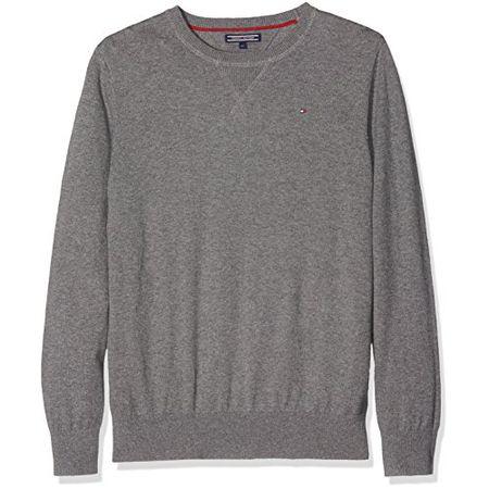 Tommy Hilfiger Jungen Pullover Basic Htr Cn Sweater L//S Gr.16 176 Navy Blau