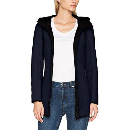 TOM TAILOR Damen Sweatshirt Outdoor Sweat Jacket, Blau (Real Navy Blue  6593), 5d3d13dcda