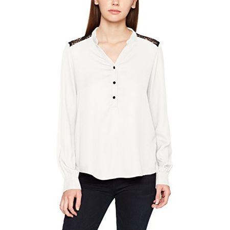 VERO MODA Damen Bluse Vmsharpa L S Shirt D2-8, Weiß (Snow 284c46877d