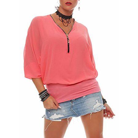 f91febb0b9f5d4 malito Damen Bluse im Fledermaus Look